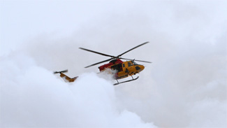 CTVNews image of helicopter rescue crew approach. A CMC Rescue Equipment Blog Post.
