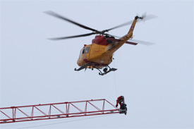 CTVNews image of helicopter rescue patient assessment. A CMC Rescue Equipment Blog Post.