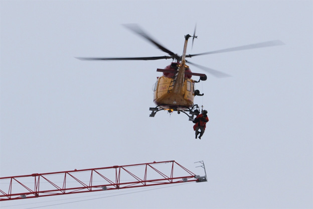 CTVNews image of helicopter rescue patient evacuation. A CMC Rescue Equipment Blog Post.