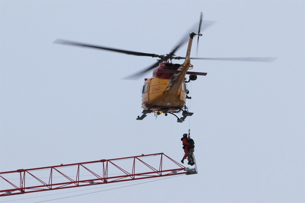 CTVNews image of helicopter rescue patient raising. A CMC Rescue Equipment Blog Post.