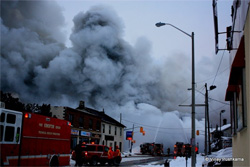 CTVNews image of helicopter rescue at Kingston, Ontario fire. A CMC Rescue Equipment Blog Post.