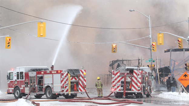 CTVNews image of helicopter rescue Kingston, Ontario fire trucks. A CMC Rescue Equipment Blog Post.