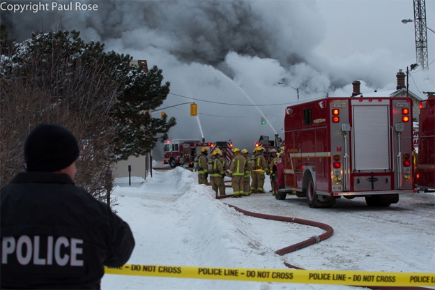 CTVNews image of helicopter rescue Kingston, Ontario firefighters. A CMC Rescue Equipment Blog Post.