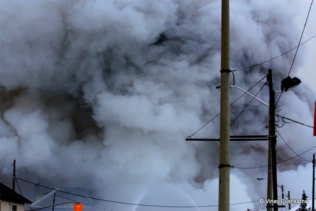 CTVNews image of helicopter rescue Kingston, Ontario fire smoke. A CMC Rescue Equipment Blog Post.